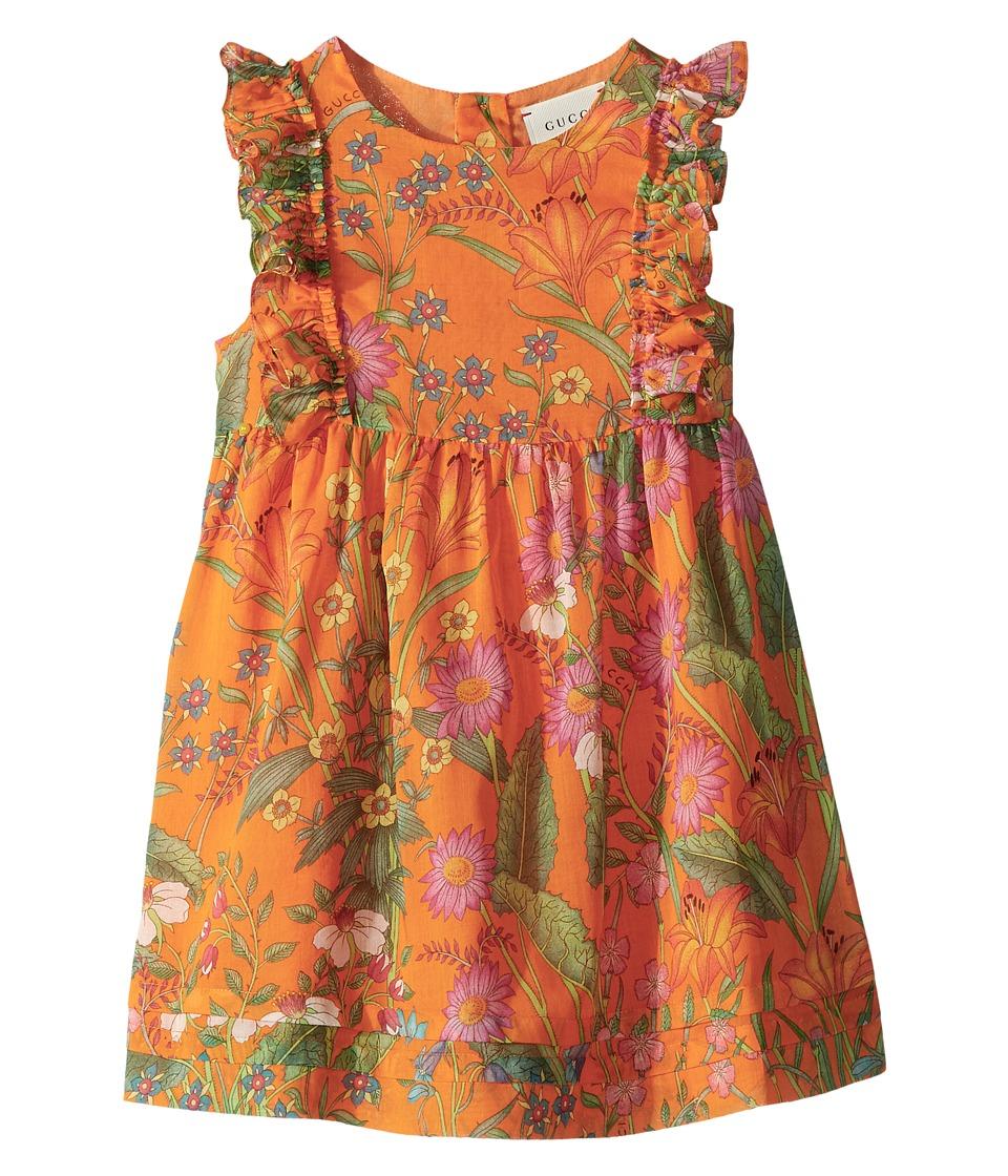 Gucci Kids - Dress 501266ZB200 (Infant) (Orange Printed) Girls Dress