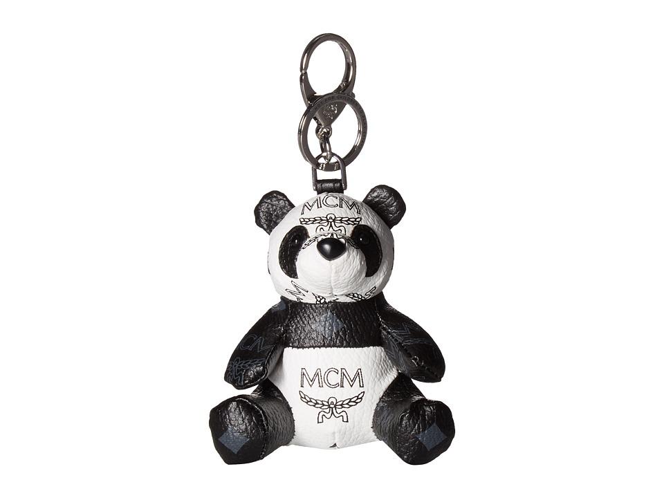 MCM Visetos Charm Panda Charm (White) Wallet