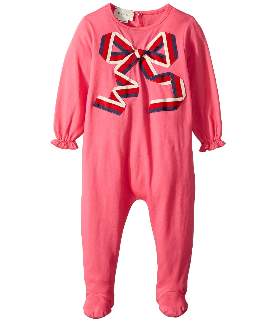 Gucci Kids - Sleepsuit 503987X9O78 (Infant) (Baba/White/Red/Blue) Girls Jumpsuit & Rompers One Piece