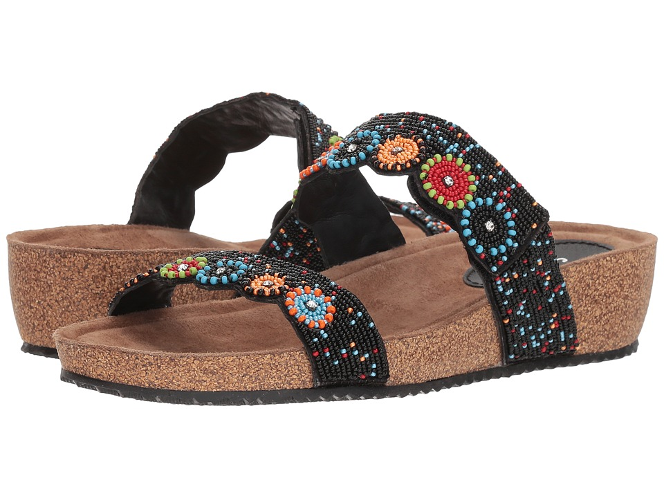 Spring Step - Bahama (Black Multi) Womens Sandals