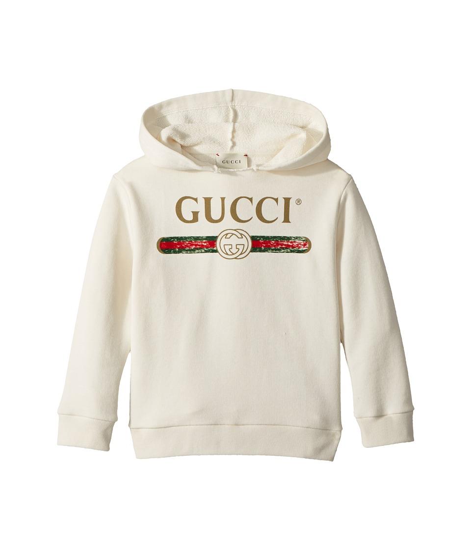 Gucci Kids - Sweatshirt w/ Hood 504118X9P00 (Infant) (White/Green/Red) Kids Sweatshirt
