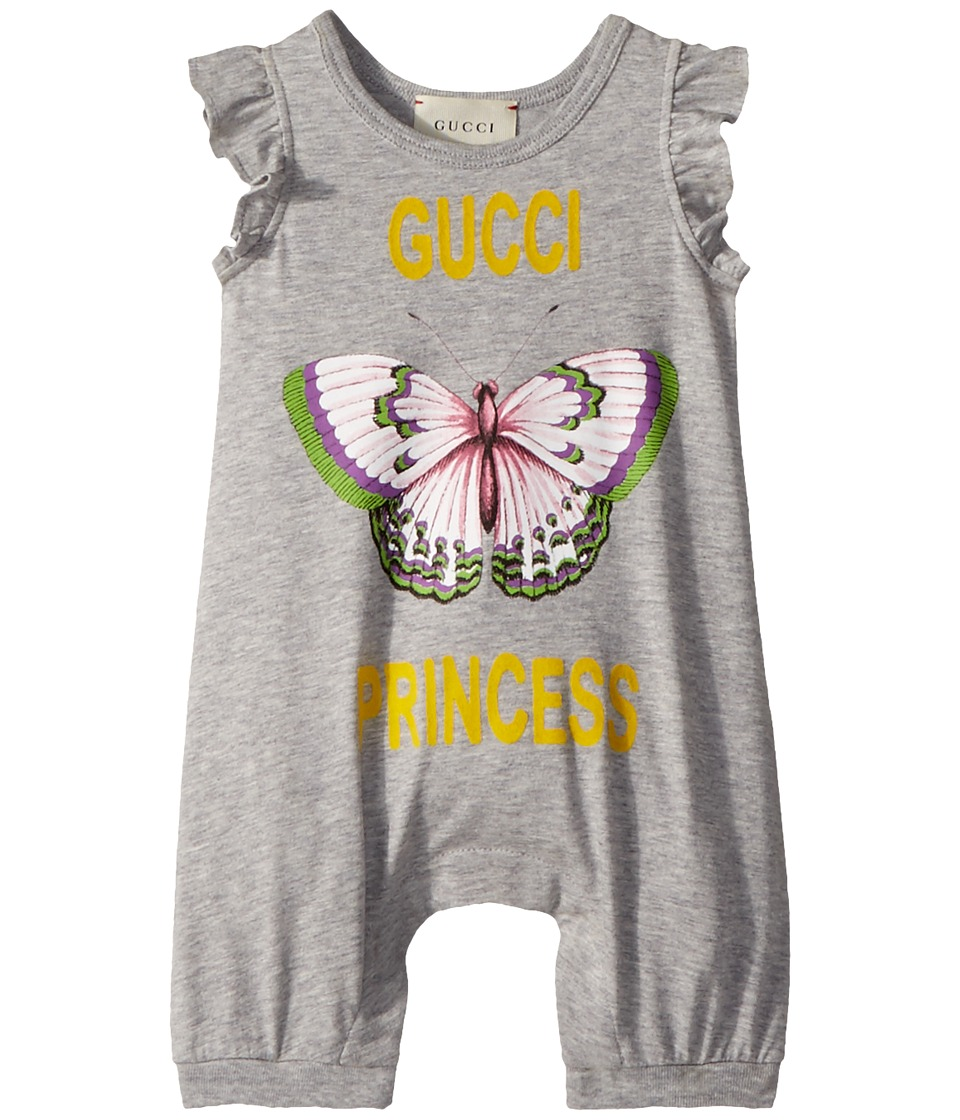 Gucci Kids - Sleepsuit 504231X3L75 (Infant) (Light Grey/Yellow/Multicolor) Girls Jumpsuit & Rompers One Piece