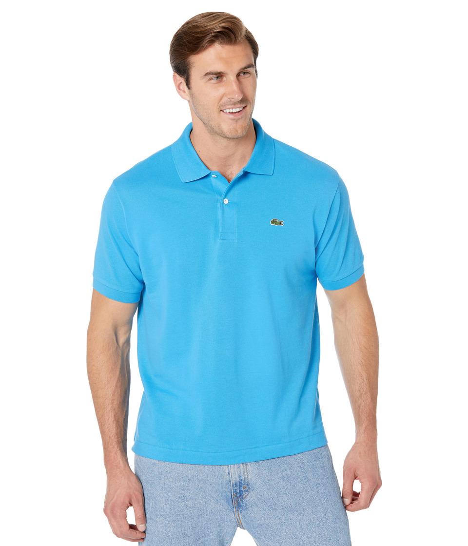Lacoste Short Sleeve Classic Pique Polo Shirt (Ibiza) Men's Short Sleeve Pullover