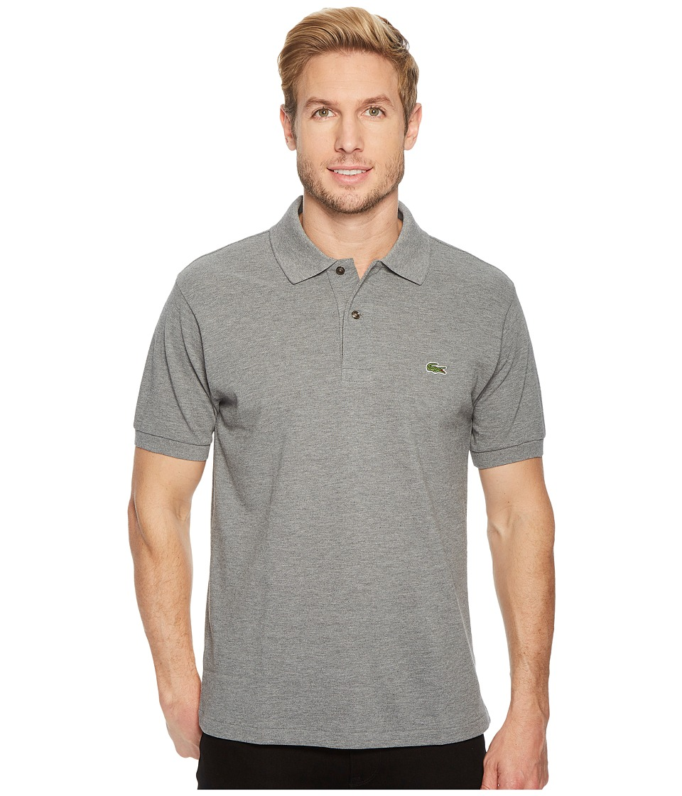Lacoste - Short Sleeve Classic Fit Chine Pique Polo Shirt (Galaxite Chine) Mens Short Sleeve Pullover