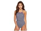 Tommy Bahama Breton Stripe High-Neck One-Piece Swimsuit