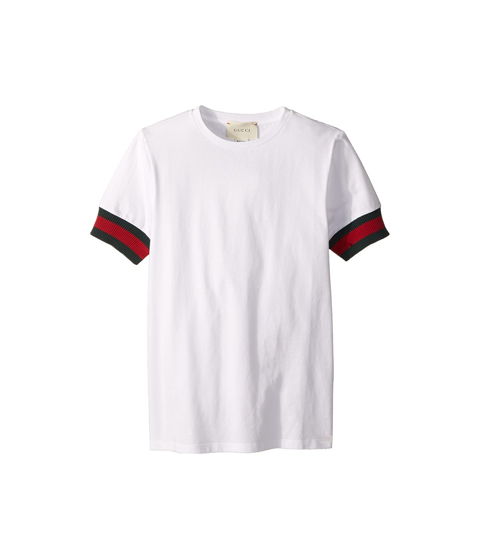 Gucci Kids - T-Shirt 410012X5719 (Little Kids/Big Kids) (Optic White) Boys T Shirt