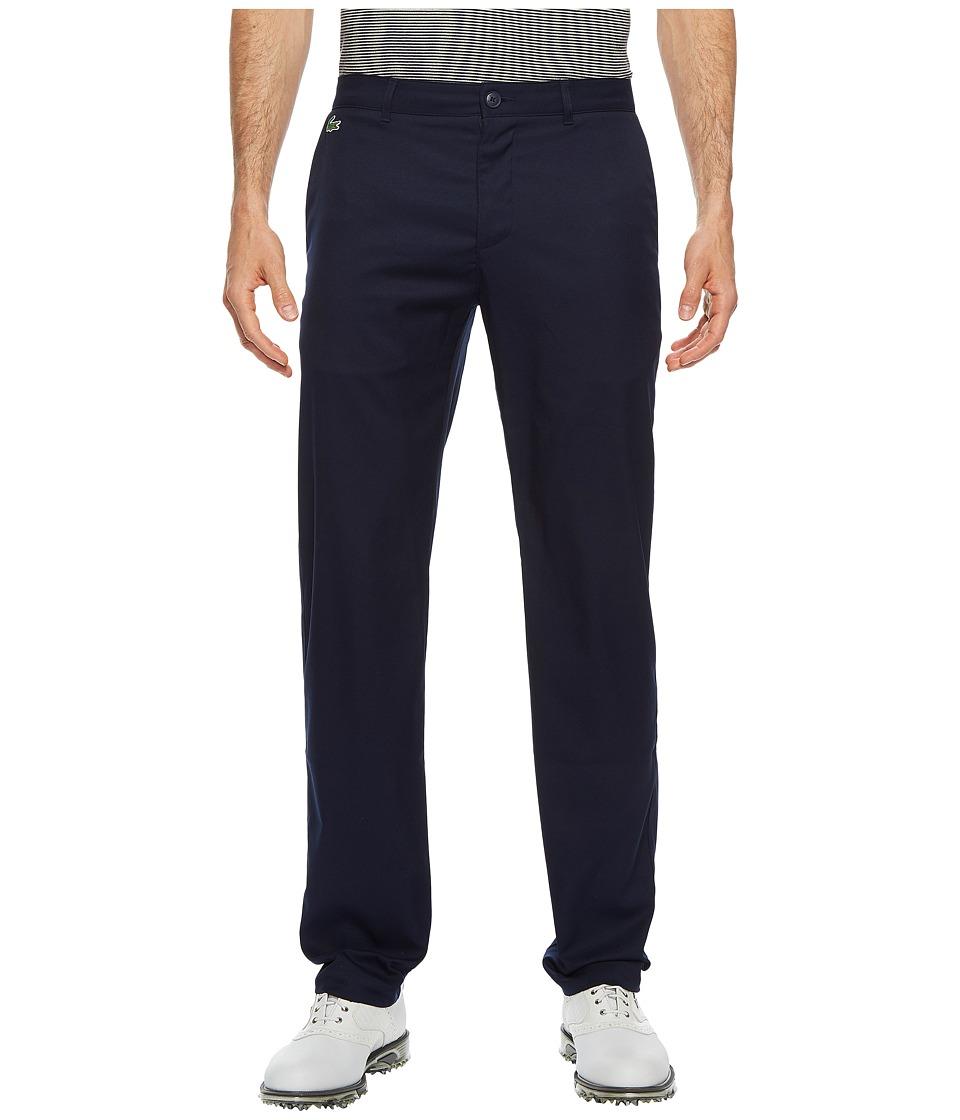 Lacoste Golf Gabardine Pants (Navy Blue) Men's Casual Pants