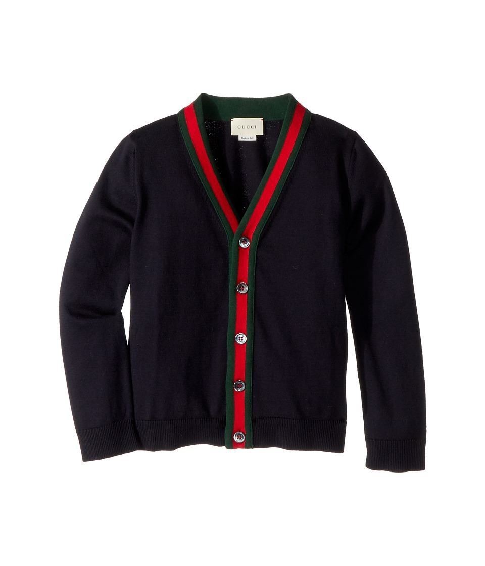 Gucci Kids - Cardigan 457712X3F43 (Little Kids/Big Kids) (Navy) Boys Sweater
