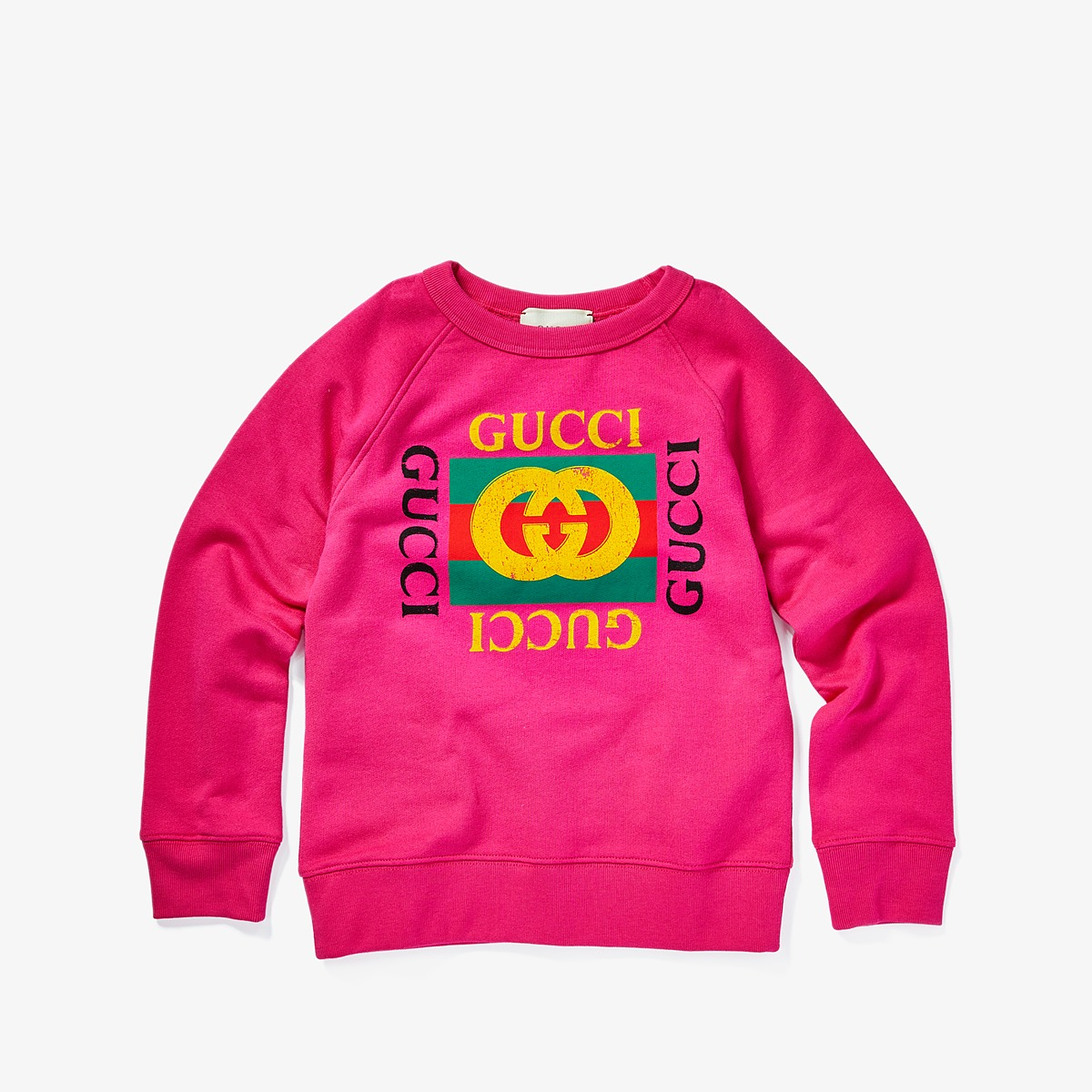 Gucci Kids - Sweatshirt 483878X3G97 (Little Kids/Big Kids) (Bright Fuchsia/Green/Red) Girls Sweatshirt
