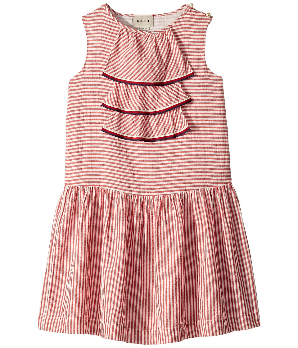 Gucci Kids - Dress 491920ZB151 (Little Kids/Big Kids) (White/Hibiscus Red/Sylvie) Girls Dress