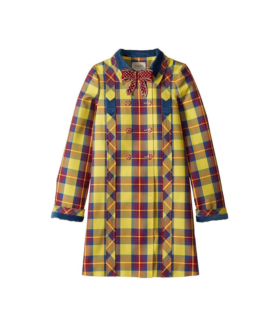 Gucci Kids - Coat 492020ZB222 (Little Kids/Big Kids) (Acid Yellow/Flare/Red) Girls Coat