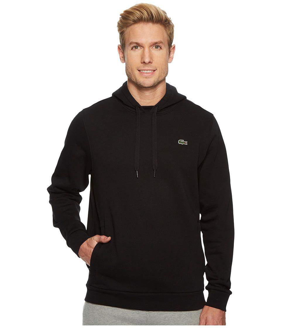 Lacoste Sport Pullover Hoodie Fleece (Black/Silver Chine)...
