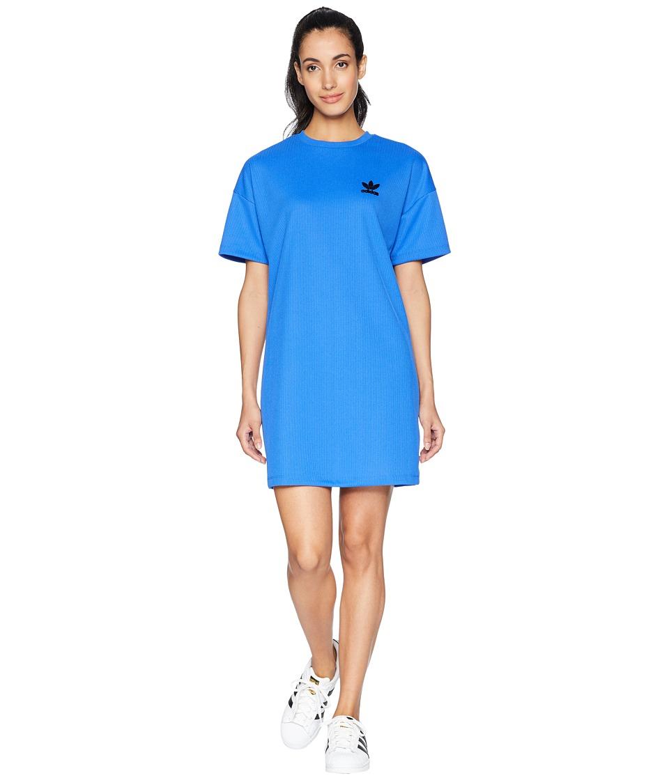 adidas Originals - Fashion League Rib Tee Dress (Hi-Res Blue) Womens Dress