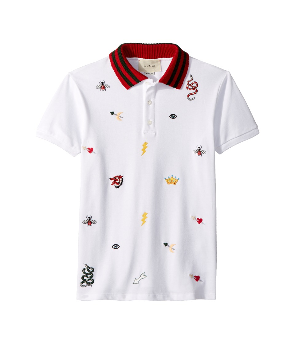 Gucci Kids - Polo 497973X9L64 (Little Kids/Big Kids) (Optic White/Multicolor) Boys T Shirt