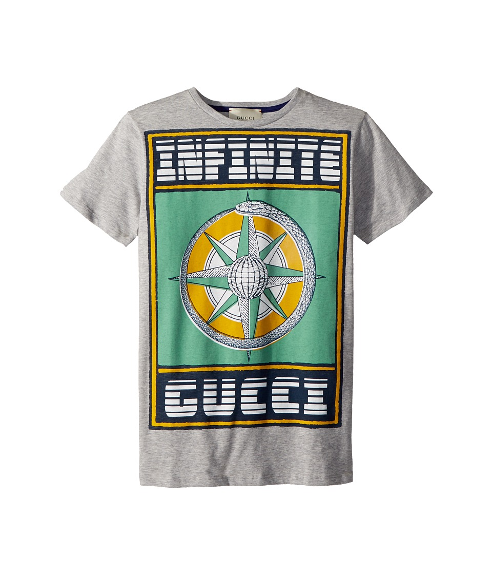 Gucci Kids - T-Shirt 498017X3I68 (Little Kids/Big Kids) (Light Grey/Multicolor) Boys T Shirt