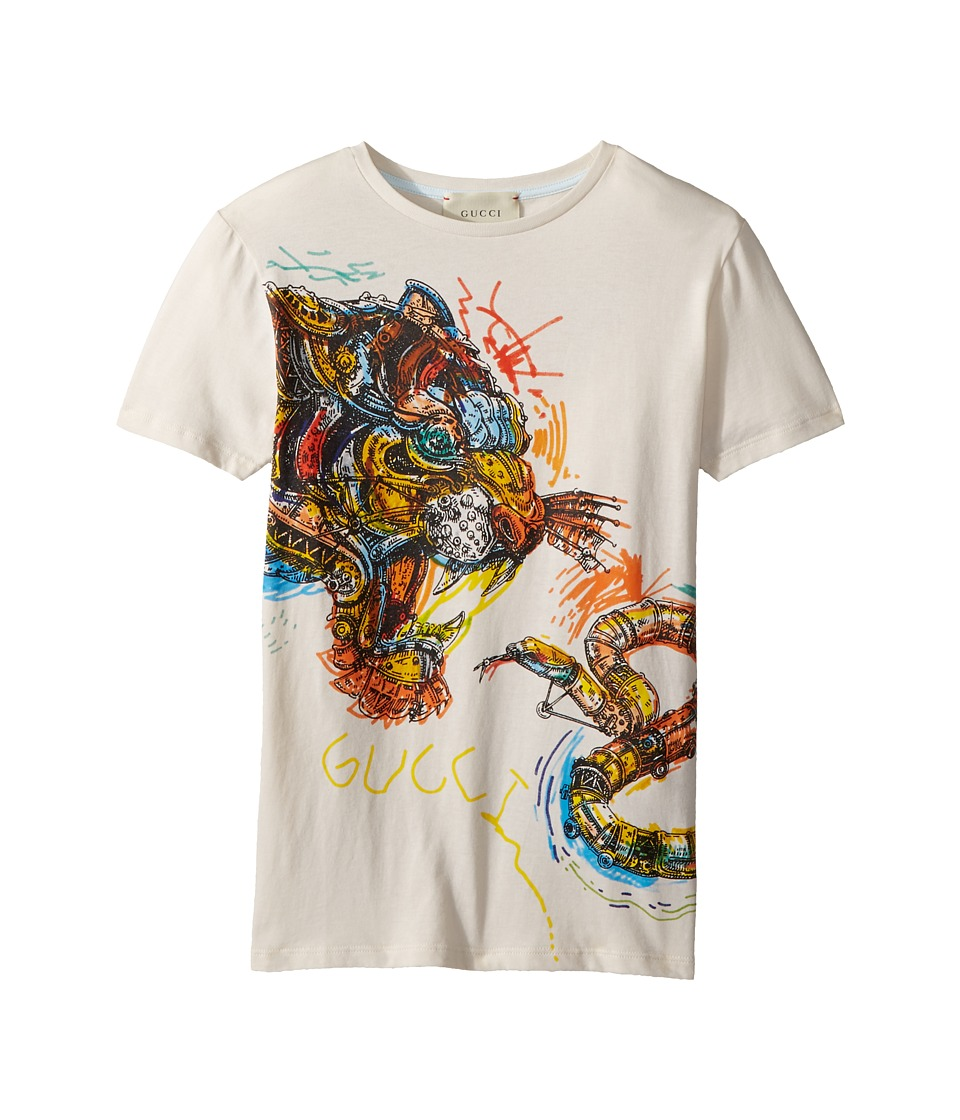 Gucci Kids - T-Shirt 498014X3I65 (Little Kids/Big Kids) (Bone/Multicolor) Boys T Shirt