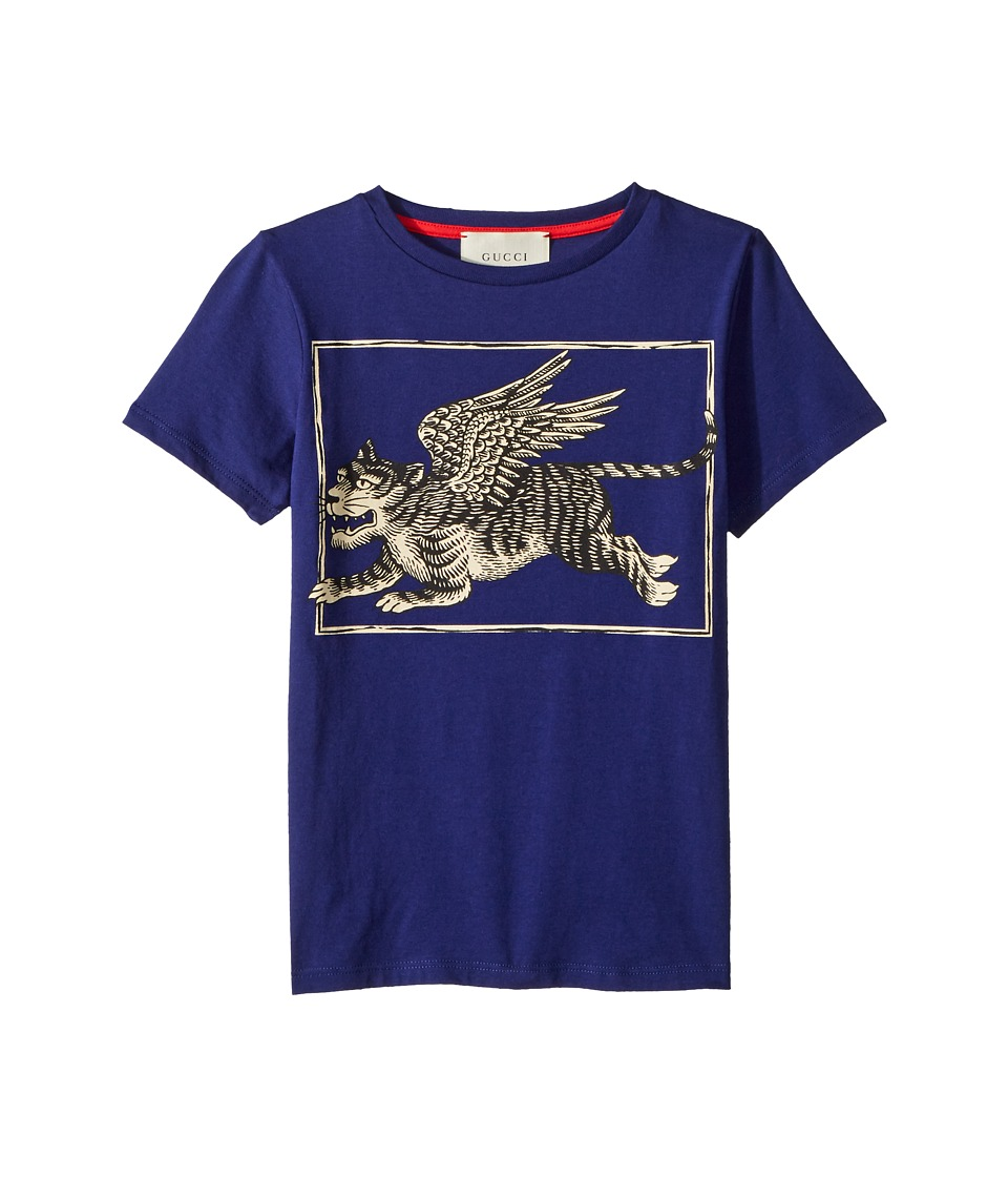 Gucci Kids - T-Shirt 498010X3I62 (Little Kids/Big Kids) (Inchiostro/Black/Red) Boys T Shirt