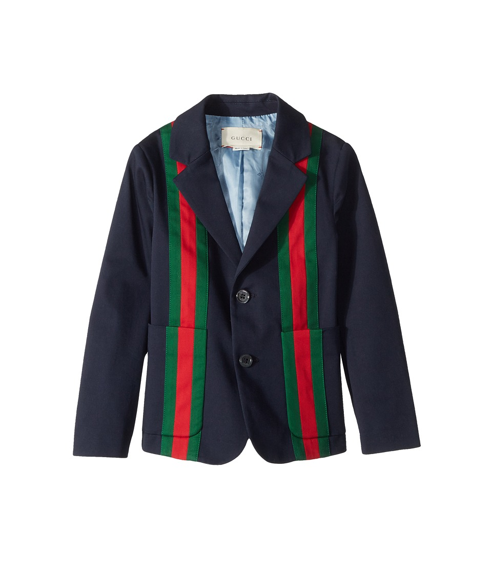 Gucci Kids - Jacket 499562XBC98 (Little Kids/Big Kids) (Urban Blue/Yard/Live Red) Boys Coat