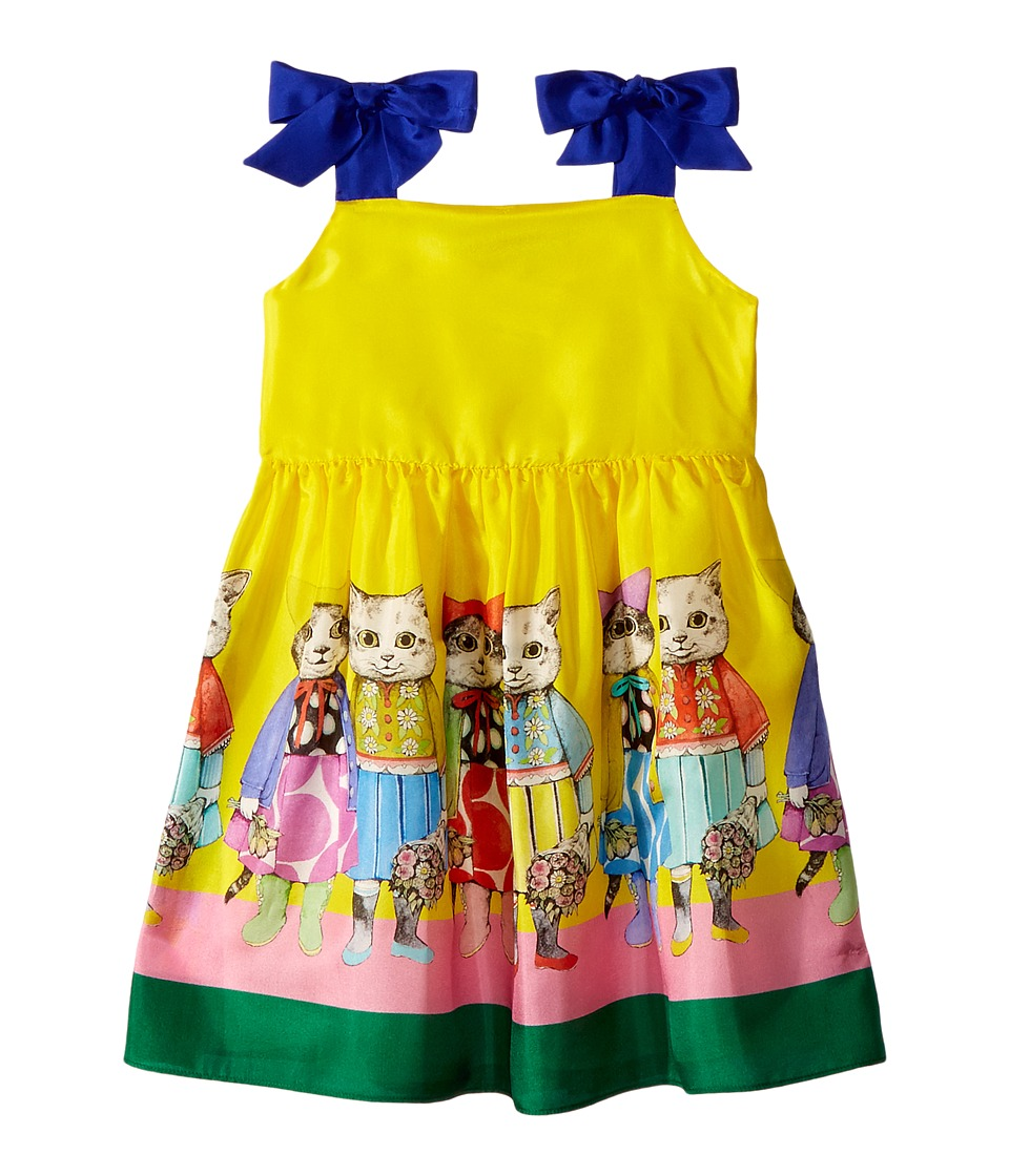 Gucci Kids - Dress 501287ZBS29 (Little Kids/Big Kids) (Acid Yellow/Blue) Girls Dress