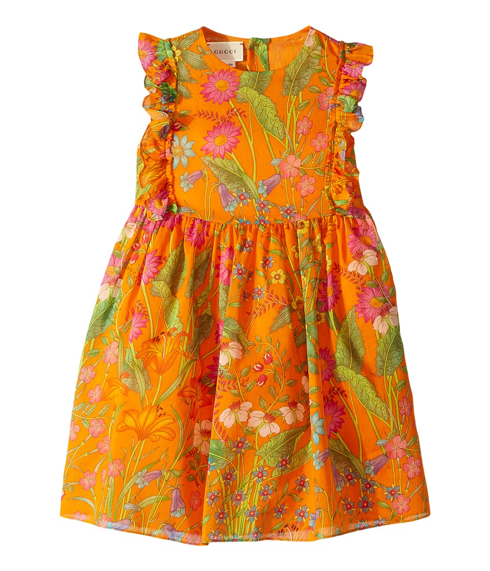 Gucci Kids - Dress 501285ZB200 (Little Kids/Big Kids) (Orange Printed) Girls Dress