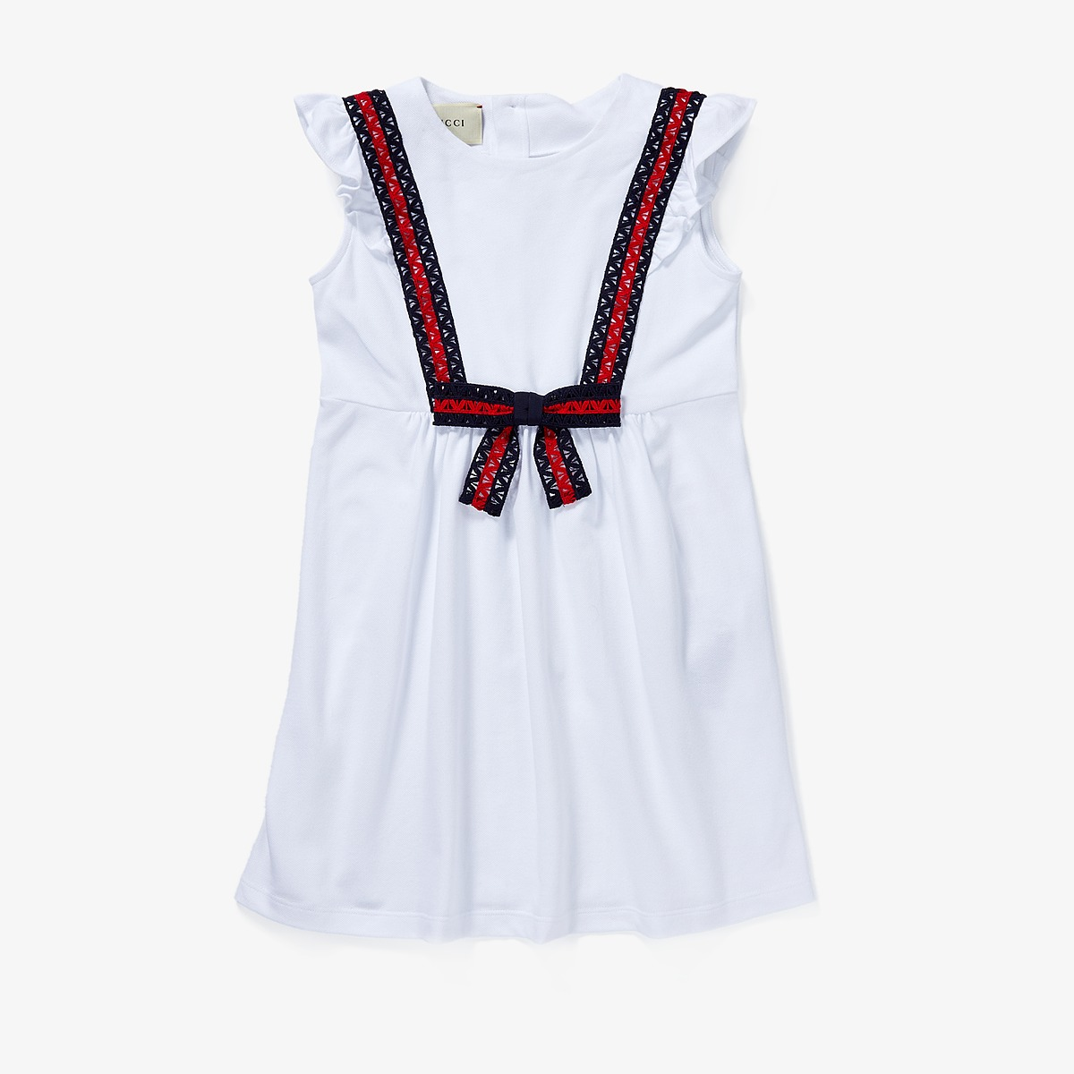 Gucci Kids - Dress 503462X9N98 (Little Kids/Big Kids) (Optic White/Blue/Red) Girls Dress