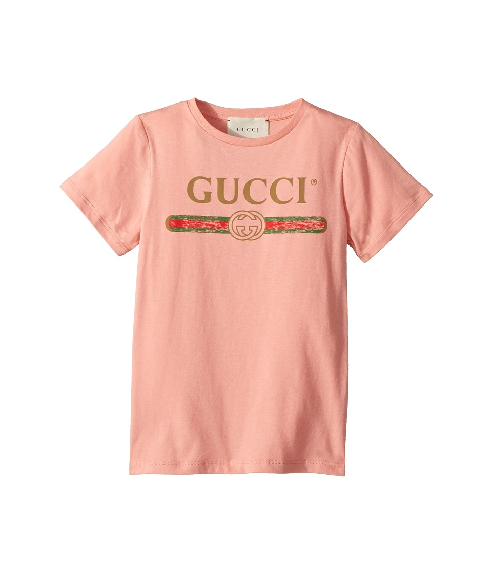 Gucci Kids - T-Shirt 503628X3L02 (Little Kids/Big Kids) (Rosantico/Grey/Red) Girls T Shirt