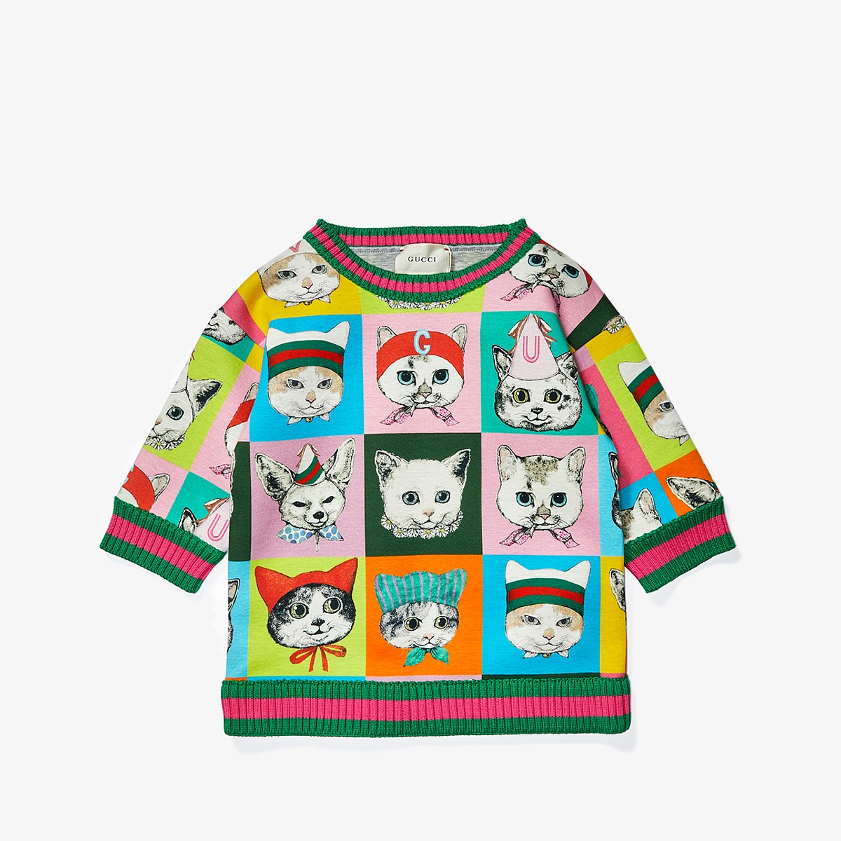 Gucci Kids - Sweatshirt 503725X9O25 (Little Kids/Big Kids) (Light Grey/Multi Print) Girls Sweatshirt