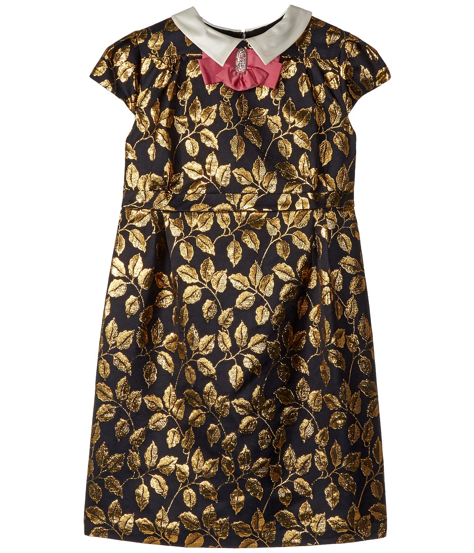 Gucci Kids - Dress 508596ZB414 (Little Kids/Big Kids) (Black/Iridescent Gold/Pink) Girls Dress