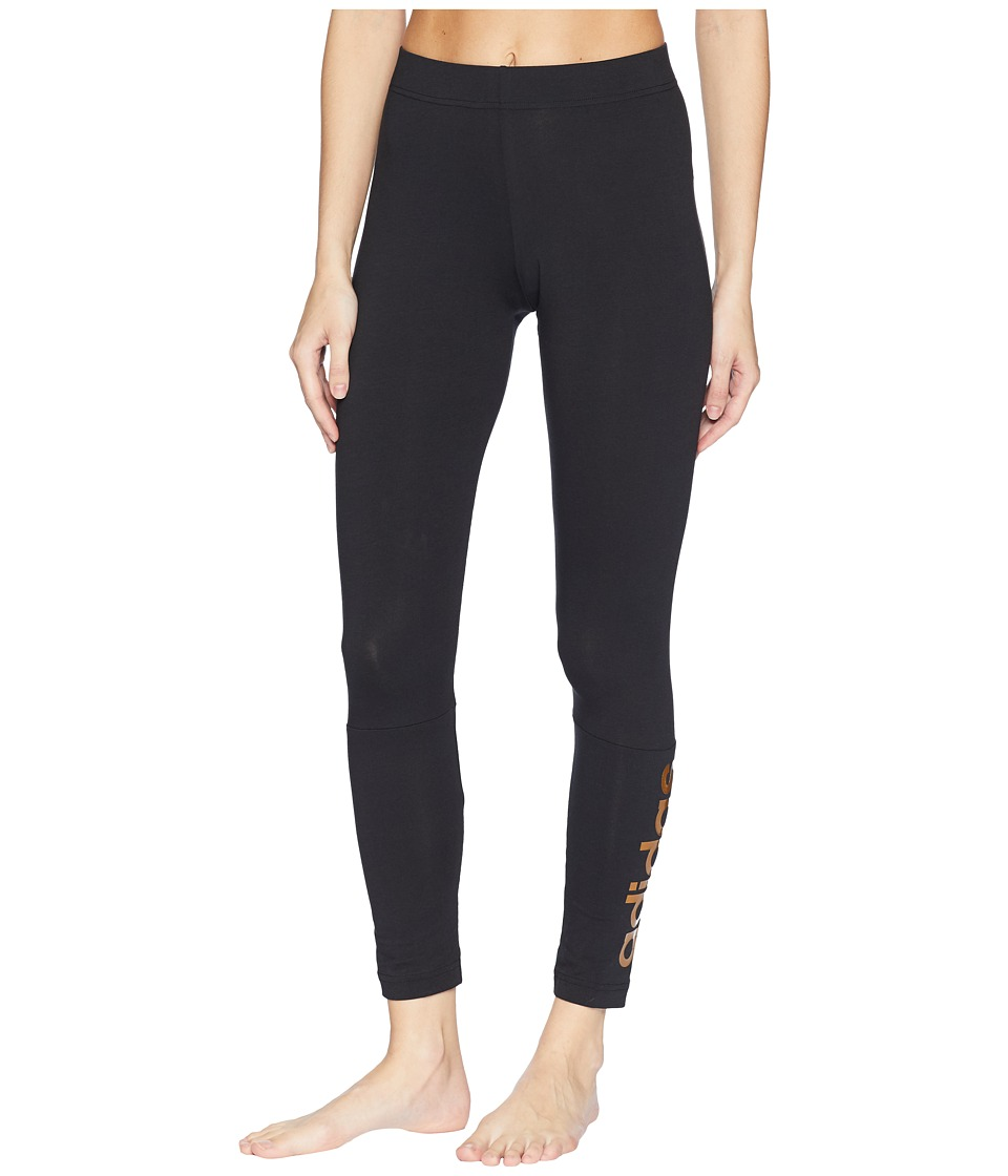 adidas Linear Logo Long Tights (Black) Women