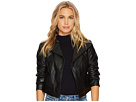 1.STATE Cropped Faux Leather Jacket