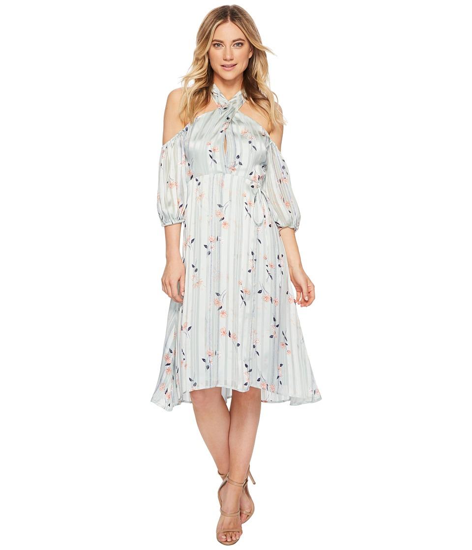 1960s Dresses: New 60s Style Dresses – Jackie O to Mod ASTR the Label - Nicole Dress Mint Satin Floral Womens Dress $128.00 AT vintagedancer.com