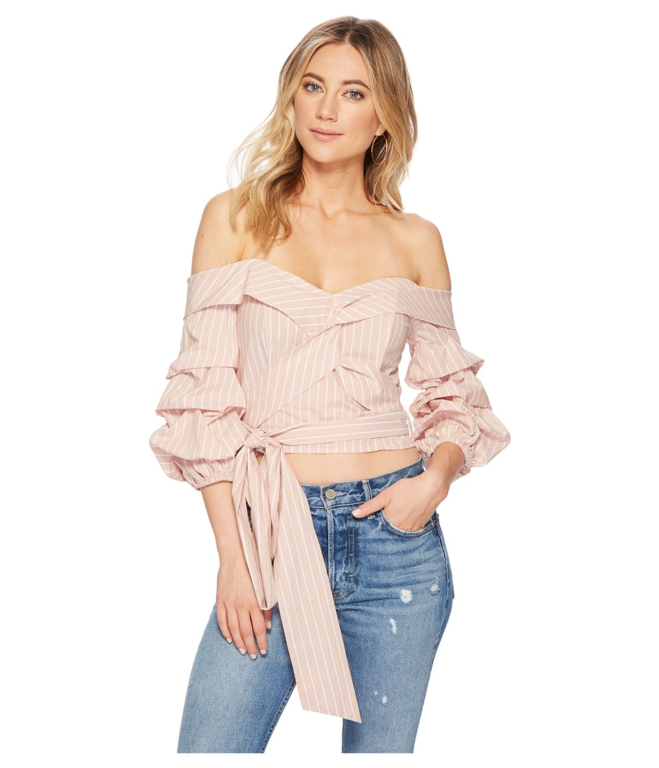 ASTR the Label - Carrie Top (Dusty Blush Stripe) Womens Clothing