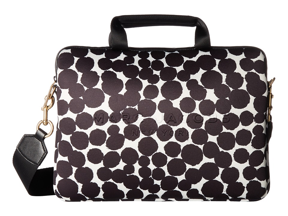 Marc Jacobs - Neoprene Graphic Painted Dots Tech 13 Commuter Case (Black Multi) Cell Phone Case