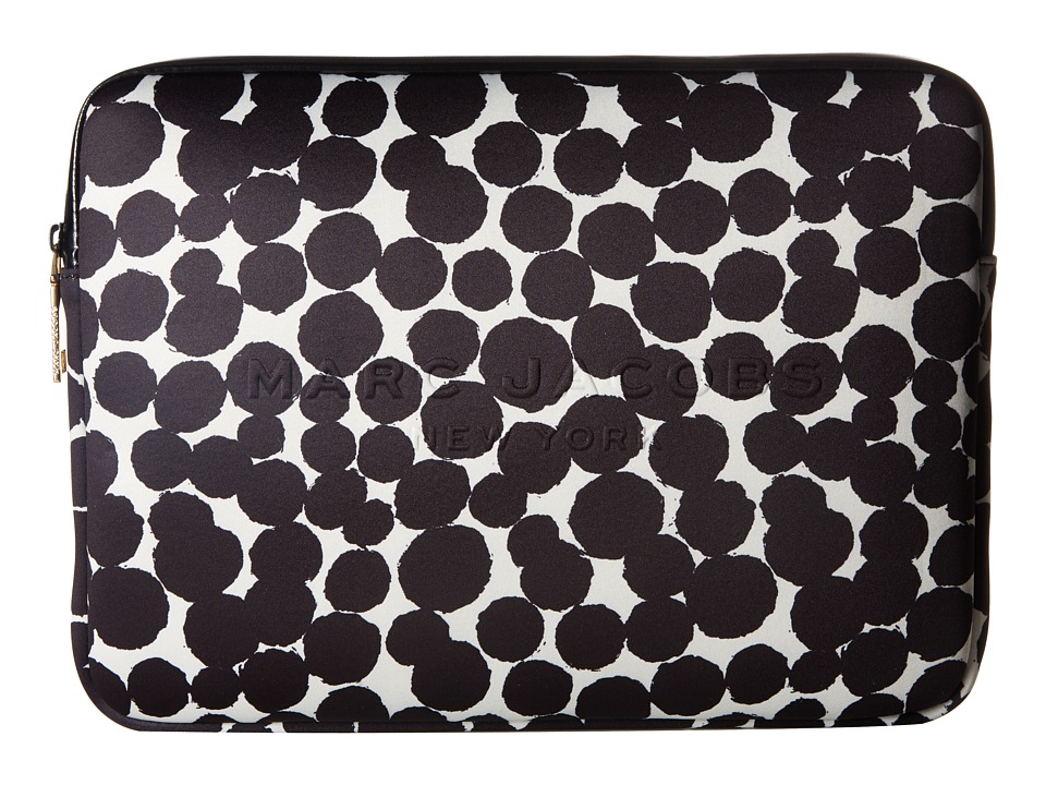 Marc Jacobs - Neoprene Graphic Painted Dots Tech 13 Computer Case (Black Multi) Cell Phone Case