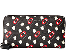 Marc Jacobs Popcorn Scream Printed Coated Canvas Standard Continental Wallet