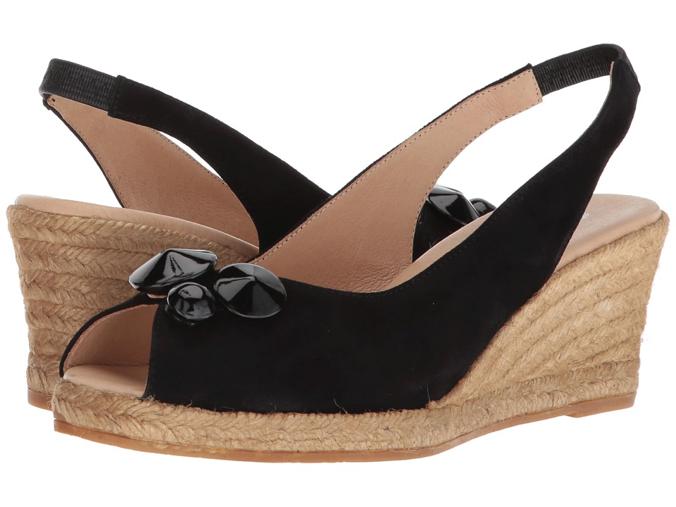1950s Style Shoes Eric Michael - Tippi Black Womens Shoes $135.00 AT vintagedancer.com