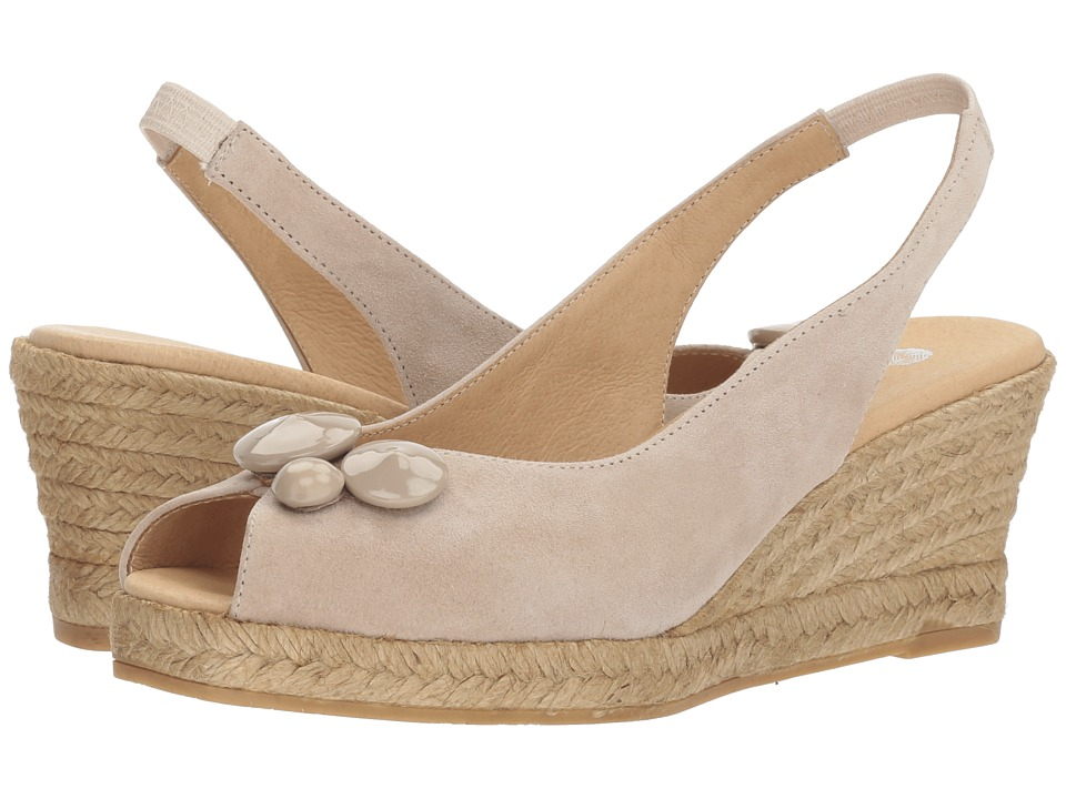 1940s Style Shoes, 40s Shoes Eric Michael - Tippi Beige Womens Shoes $135.00 AT vintagedancer.com