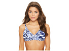 Tommy Bahama Pansy Petals Over-The-Shoulder Bikini Top