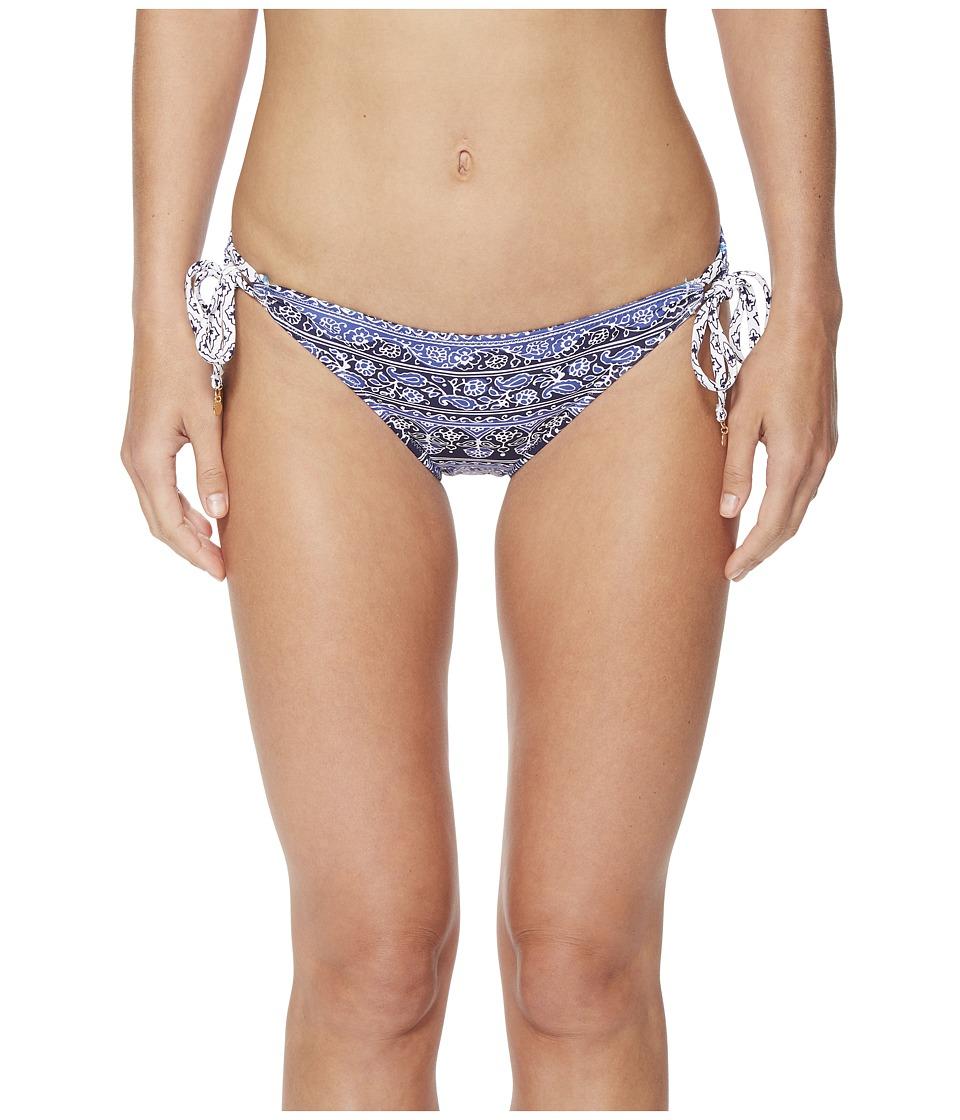 Tommy Bahama Tika Tiles Reversible Side-Tie Bikini Bottom (Dark Sanibel Blue)