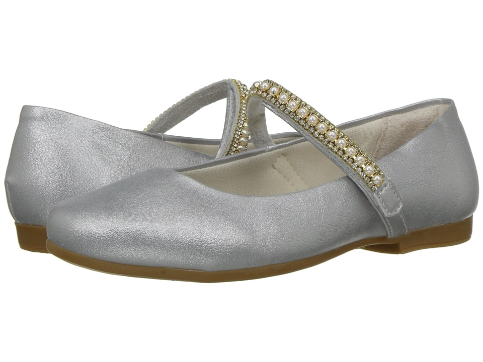 Pampili - 10340 (Little Kid/Big Kid) (Silver) Girls Shoes
