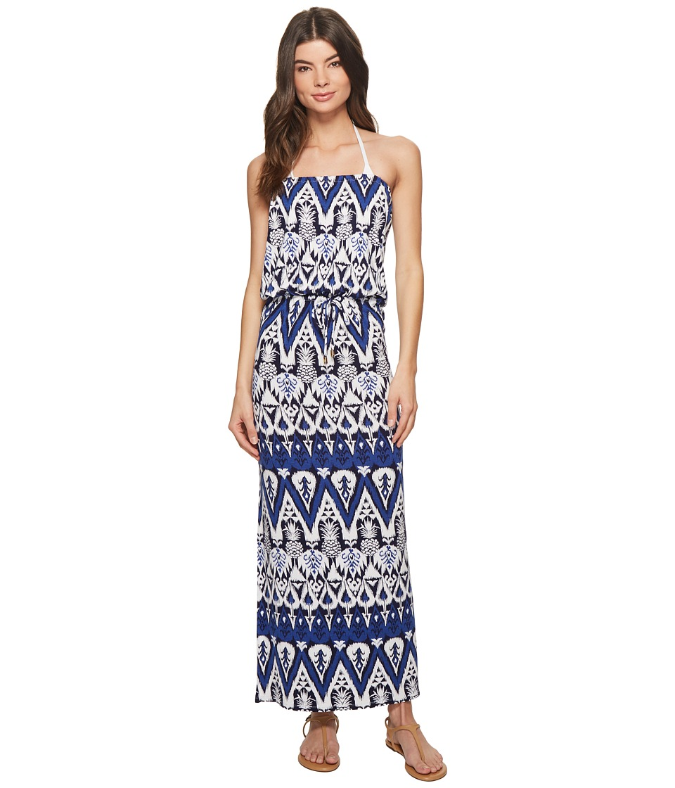 Tommy Bahama Pineapple Maxi Dress Cover-Up (Dark Sanibel Blue)