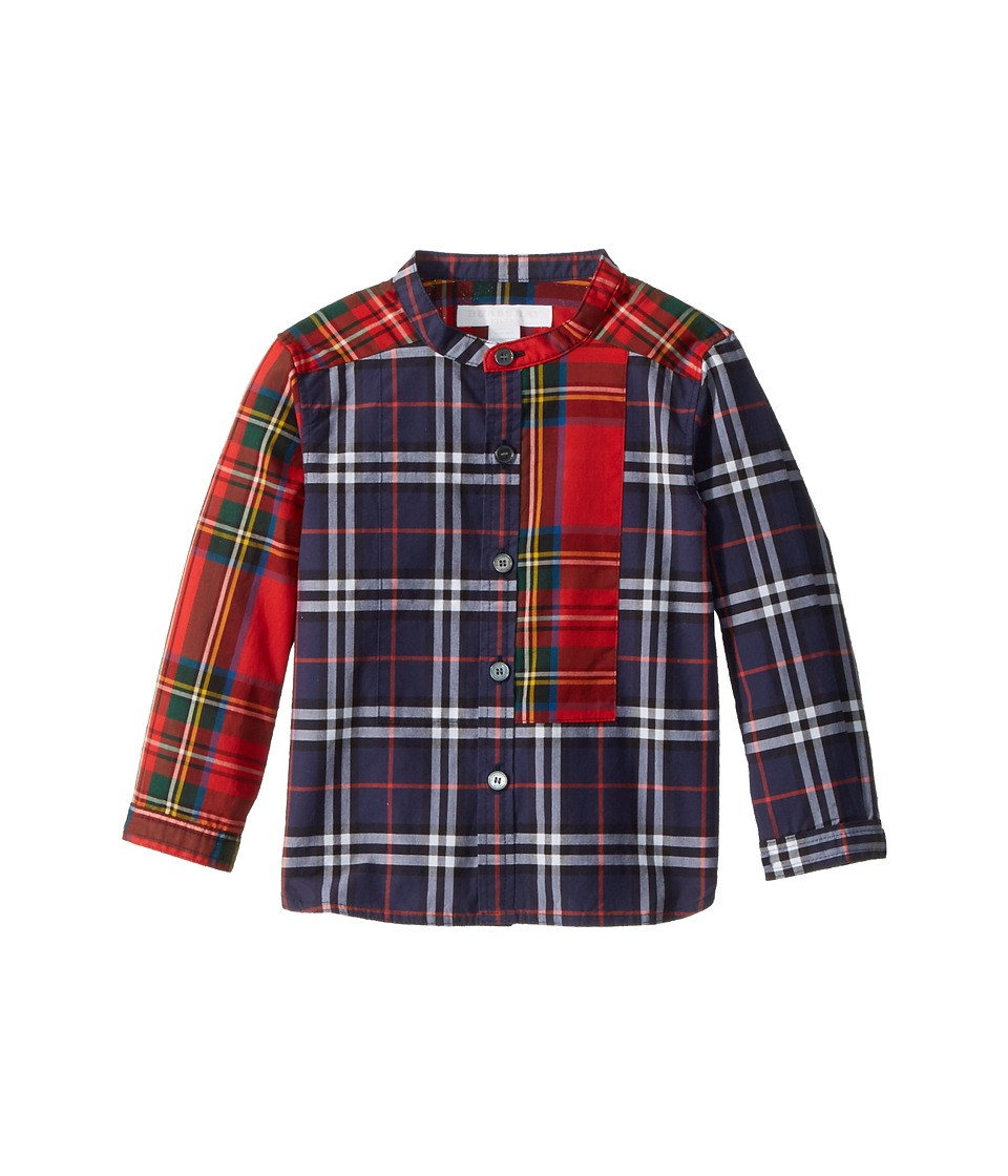 Burberry Kids - Argus Tuxedo Shirt (Infant/Toddler) (Navy) Boys Clothing