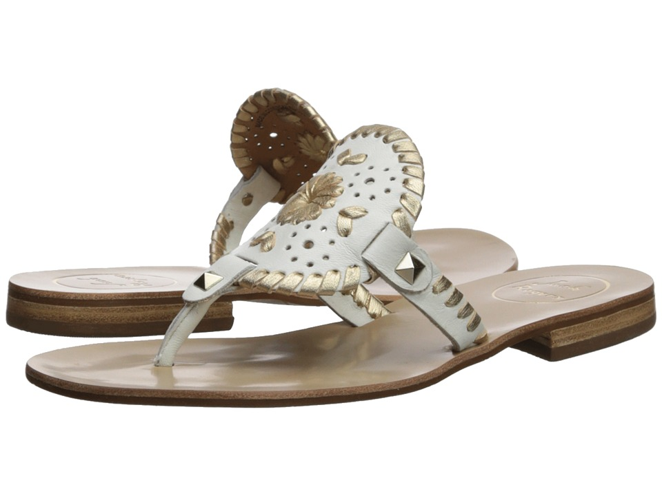 Jack Rogers - Georgica Sandal (White/Gold) Womens Sandals