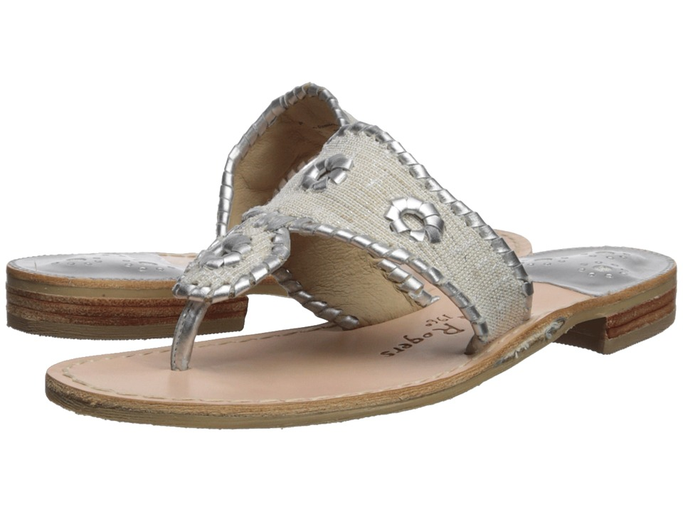 Jack Rogers Isla (White/Silver) Sandals