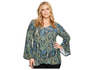 Karen Kane Plus Plus Size Bell Sleeve Top