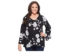 Karen Kane Plus Plus Size Flare Sleeve Top