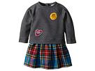 Burberry Kids Mini Francine Sweater Top Check Skirt Dress (Infant/Toddler)