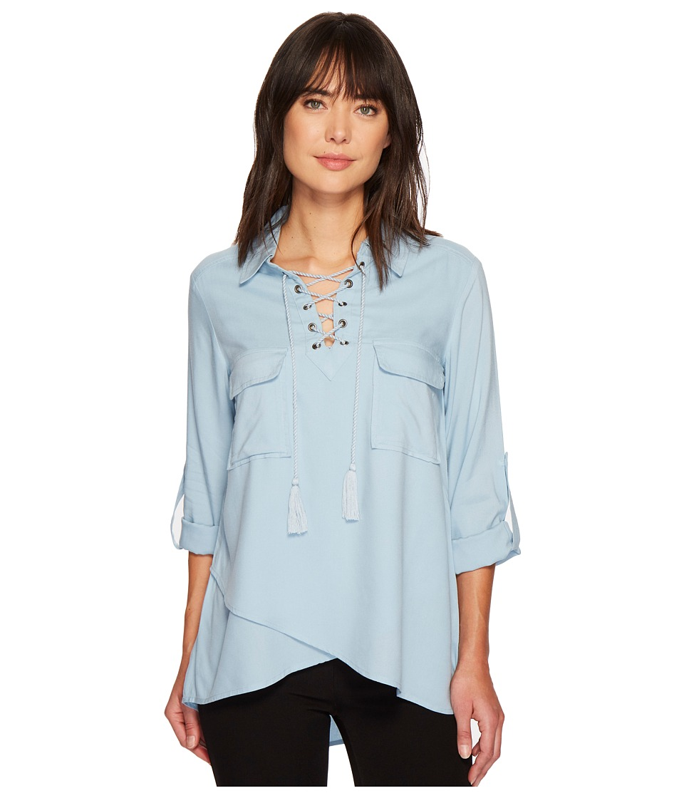Karen Kane - Lace-Up Hem Top