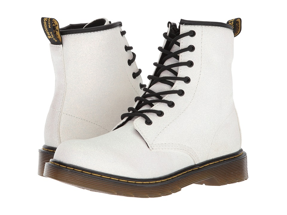Dr. Martens Kids Collection - 1460 Glitter Youth Delaney Boot (Big Kid) (Aurora Golden Purple) Girls Shoes
