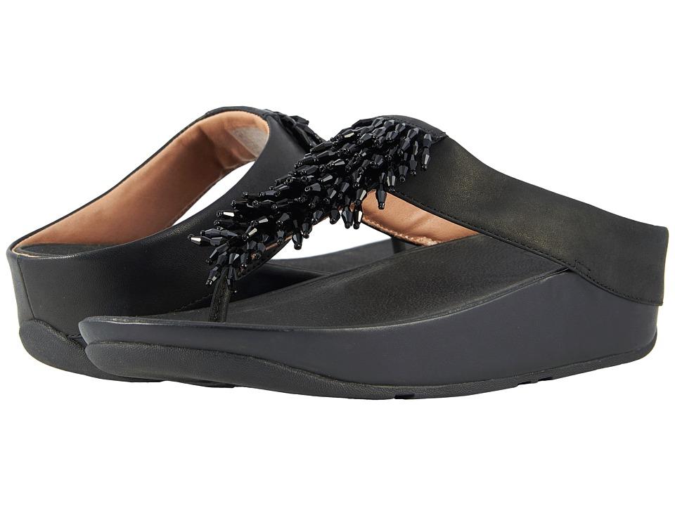 FitFlop - Rumba Toe Thong Sandals (Black) Women's Sandals